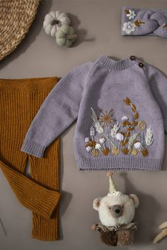 Handmade Baby, Handmade Clothes, Handmade Dresses, Toddler Outfits, Kids Outfits, Fairy Clothes, Knit Fashion, Baby Sweaters, Baby Girl Fashion