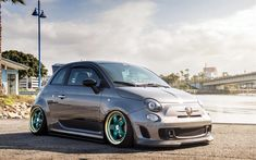 Download wallpapers Fiat 500 Abarth, 4k, 2017 cars, tuning, compact cars, Fiat
