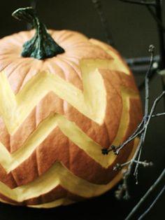 halloween, pumpkin, pumpkin carving, pumpkin decorating, chevron, chevron pumpkin
