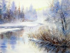 WINTER MARSH by Ann Fulleton