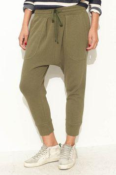 Olive Knit Harem Pant