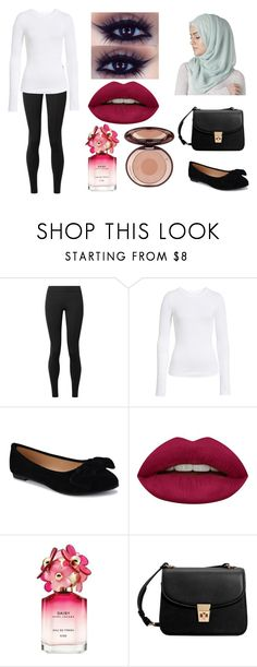 """""""Happy National Hijab Day!"""" by kaylamoraled ❤ liked on Polyvore featuring The Row, BP., Huda Beauty, Marc Jacobs and MANGO"""