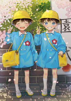 Kaito Kuroba, Shinichi Kudo -The Gosho boys Anime Chibi, Kawaii Anime, Manga Anime, Persona Anime, Yuka, Anime Siblings, Kaito Kuroba, Conan Comics, Kaito Kid
