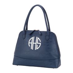 Large Monogram Purse - Navy Color Purse - Women's Initials Purse - Monogram Shoulder Bag - Personalized Purse - Spring Fashion - Purse Gift by SerenityoftheSouth on Etsy #monogram #purse #navy #gift
