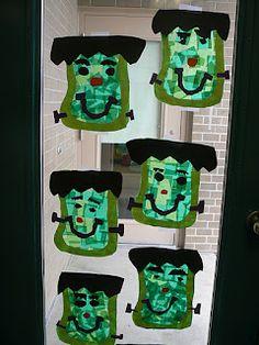 Art idea...printable shapes acquatium with fish shapes