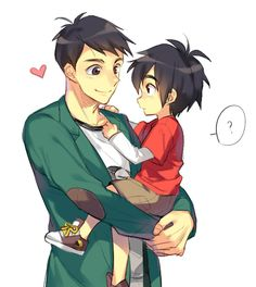 Tadashi and a cute young Hiro Big Hero 6 Tadashi, Hiro Big Hero 6, The Big Hero, Tadashi Hamada, Hiro Hamada, Baymax, Disney Animated Movies, Disney Movies, Disney And Dreamworks