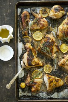 Meyer Lemon and Thyme Roasted Chicken | Relishing It #main