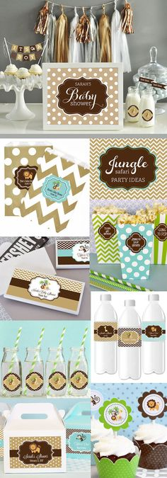 Jungle Theme Baby Shower Decorations KIT Safari Baby by ModParty