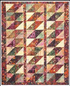 Quilt Pattern - Rose Cottage Quilting - Batik Diamonds | Shibori Dragon
