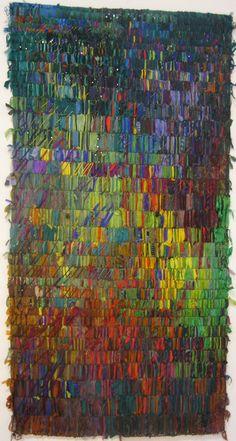 Wild fiber art wall hanging.