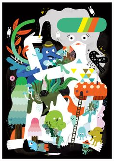 Joyful Characters and Lots of Fun Illustrations by Andy J. Miller