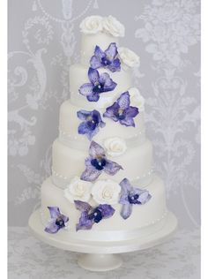 Vanda Orchid Rose Wedding Cake