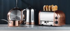 The Classic Dualit Toaster and Classic Kettle are the ultimate duo, adding a touch of class to your kitchen. Both feature multi-patented, repairable and replaceable parts, for convenience, value and longevity.