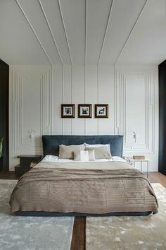 decoration pour la chambre a coucher avec moulure décorative