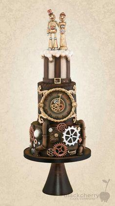 Steampunk Robot cake