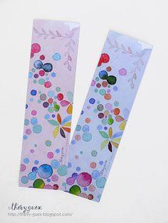 Dots Watercolor Bookmarks/Multicolor Pastel by thevysherbarium, $4.50