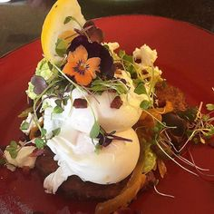 #Repost @emyloo83  Lunching with my love @benjamino70 - sweet potato and corn fritters with smashed avo poached eggs and goats cheese. So pretty so delicious! #boho3280 #eat3280 @destinationwarrnambool by destinationwarrnambool
