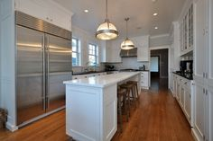 seats underneath island (no overhang); narrow kitchen island | Kitchen Island With Seats Design Ideas, Pictures, Remodel, and Decor