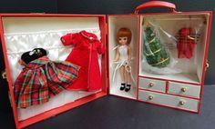 "Tonner Tiny Betsy McCall CHRISTMAS TRUNK 8"" Doll Wardrobe Xmas Holiday NRFB #DollswithClothingAccessories"