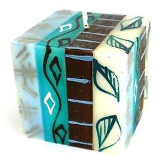 Hand-Painted Cube Candle - Maji Design - Nobunto