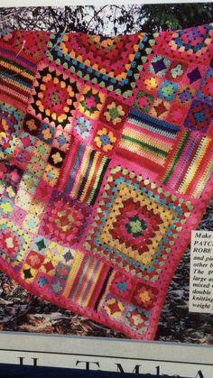 Crochet Square Blanket, Granny Square Crochet Pattern, Crochet Stitches Patterns, Crochet Motif, Crochet Quilt Pattern, Crotchet Blanket, Crochet Squares Afghan, Ripple Afghan, Chunky Crochet