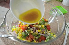 Skip the Lettuce and Make this Fresh & Easy Summer Corn Salad - Corn Salad Recipes, Best Salad Recipes, Corn Salads, Easy Salads, Vegetable Recipes, Healthy Recipes, Broccoli Salads, Summer Corn Salad, Fresh Corn Salad