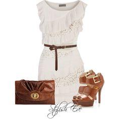 Que lindo el blanco combinado con  el color marrón