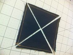 3 methods of hst's. #1 edges end up on bias. quilt tutorial