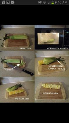 Microwaveable Corn on the Cobb