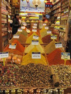Spice market in Instanbul, Turkey