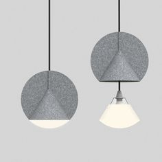 Design studio outofstock have combined two geometric shapes and industrial felt to create this unique looking lamp, for Danish furniture brand Bolia.