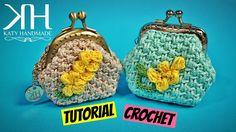 Crochet Purse With Nozzle - ilove-crochet Crochet Clutch Pattern, Crochet Wallet, Crochet Coin Purse, Crochet Purses, Crochet Patterns, Crochet Change Purse, Purse Tutorial, Tutorial Crochet, Tutorial Pochette