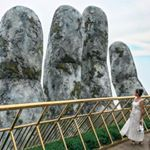 The golden Hands bridge in Danang Amazed by this two Vietnam, Da Nang, Travel Style, Mount Rushmore, Bridge, March, Hands, Mountains, Instagram