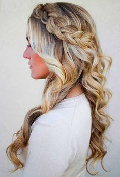 Hair Curling for Long Hair With Braids