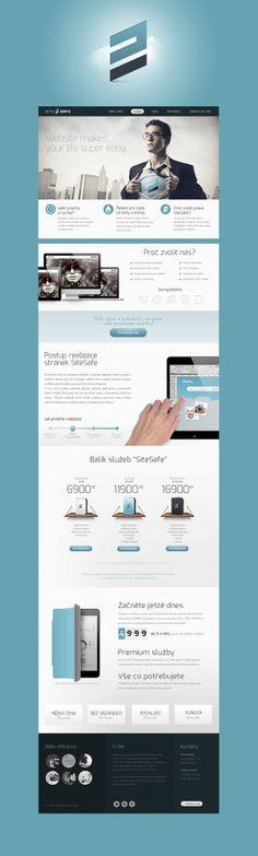 #webdesign SiteSafe by Peter Makovicky, via Behance