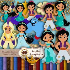 Kit Scrapbook Digital - Aladdin-Jasmine