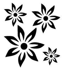 large zen flower collection stencil 5