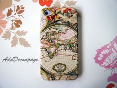 World Map Vintage iPhone Case