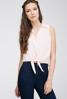 Self-Tie Sleeveless Top | FOREVER21 | #thelatest