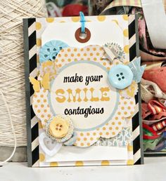 Smile Card by Jen Jockish using the Park Bench collection by Fancy Pants Designs.