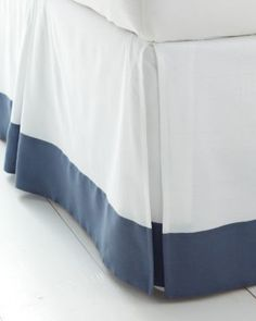 Linen Bedskirt-Tailored Pleat with Border Trim | Handcrafted by Superior Custom Linens