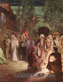 Peter se arrepiente, como Jesús lo mira