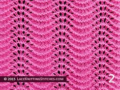 Lace Knitting. #9 Old Shale aka Feather and Fan - Pattern 2