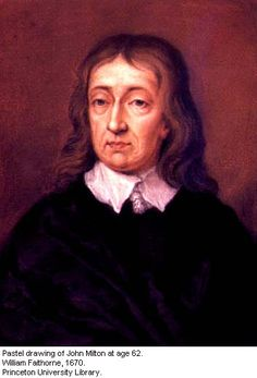 Jhon Milton (1608-1674).  poeta y ensayista inglés, conocido especialmente por su poema épico El paraíso perdido (Paradise Lost). Milton es una de las figuras más importantes del panorama literario inglés, siendo en ocasiones situado al mismo nivel que Shakespeare.