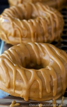 BAKED BUTTERMILK PUMPKIN DONUTS W/ BROWN BUTTER-MAPLE GLAZE