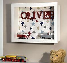 Personalised Boy's Cubbi Wall Art - children's room