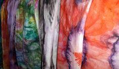 Silk painted scarfs
