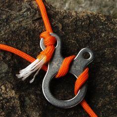 Équipement de plein air 3 trous multifonction rapide noeud corde boucle tente corde boucle Traction corde mousqueton