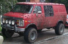 Should you be likely to reside out of your van, you're are going to want a very good place to sleep. Each van is designed and built by Happy Campers t. 4x4 Van, Chevy 4x4, Chevy Pickup Trucks, Chevrolet Van, Chevrolet Astro, Lifted Van, Gmc Vans, 6x6 Truck, Old School Vans