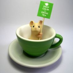 'Keep Calm and Carry On' Teacup Mouse by Kirsten Miller from Leeds.